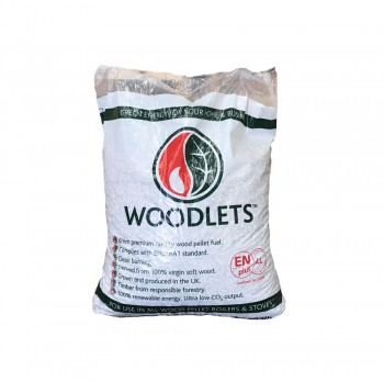 Woodlet Wood Pellets - 15kg bags - Available for Collection Only  - BSL0394551-0002