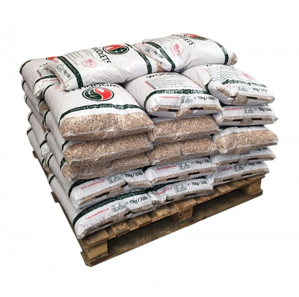 Woodlet Wood Pellets - 32 x 15 kg bags (480 kg) - BSL0394551-0002