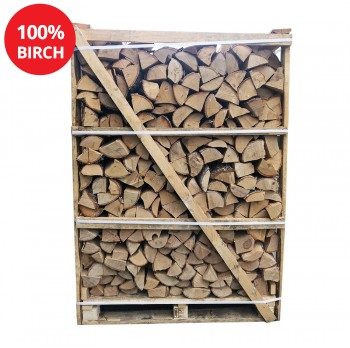 Kiln Dried Firewood Logs - 100% Birch - Large Crate - Equivalent to approx 3.5 bulk bags