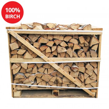 Kiln Dried Firewood Logs - 100% Birch - Half Crate - Equivalent to approx 2 Bulk bags