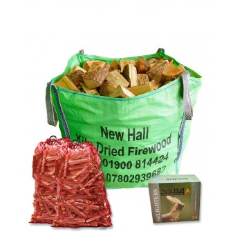 Winter Deal - Large Bulk Bag - Kiln Dried Softwood - Bulk bag dimensions 85 cm x 85 cm x 85 cm