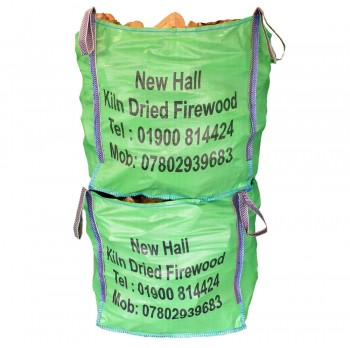 2x Large Bulk Bags - Kiln Dried Softwood - Combo Deal -  Bulk bag dimensions 85 cm x 85 cm x 85 cm