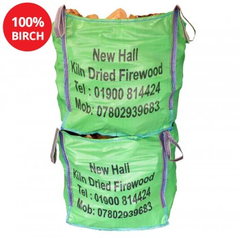 2 x Large Bulk bags - 100% Birch - Combo Deal - Bulk bag dimensions 85 cm x 85 cm x 85 cm
