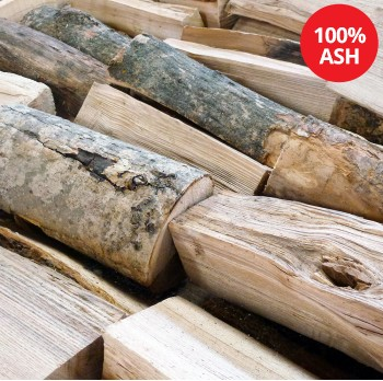 Kiln Dried Firewood Logs - 100% Ash - Large Crate - Equivalent to approx 3  bulk bags . Crate size 1200 H x 1150 W x 1100 D