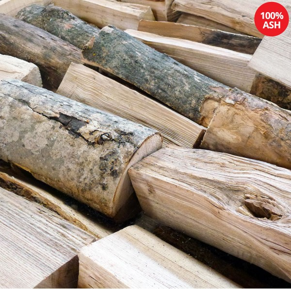 Kiln Dried Firewood Logs - 100% Ash - Half Crate - Equivalent to approx. 2 bulk bags