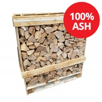 Kiln Dried Firewood Logs - 100% Ash - Large Crate - Equivalent to approx 2.5  bulk bags . Crate size 1200 H x 1150 W x 1100 D